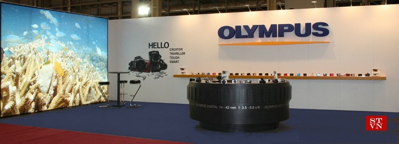 "EXHIBITION STAND OF ""OLYMPUS"" COMPANY ""PHOTOVISION"" BUSINESS FAIR O.S.E. GLYFADA ATHENS"