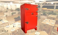 MULTIPURPOSE CABINET 1955 Ice Fridge with Plexiglass Shelves